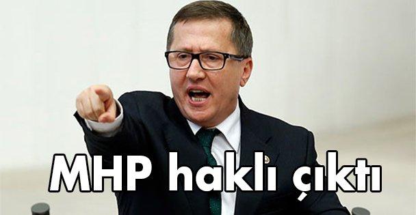 MHP haklı çıktı