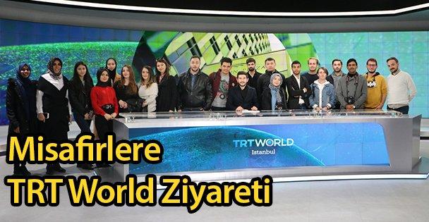 Misafirlere TRT World Ziyareti