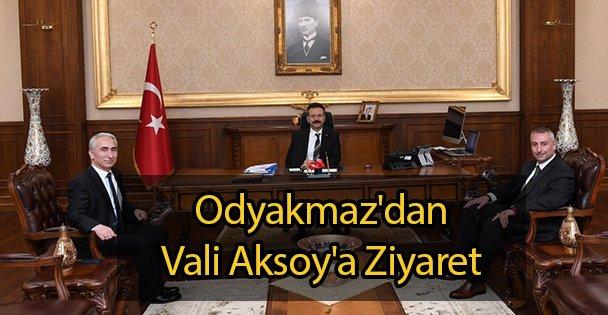 Odyakmaz'dan Vali Aksoy'a Ziyaret