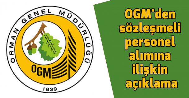 OGM'den sözleşmeli personel alımına ilişkin açıklama