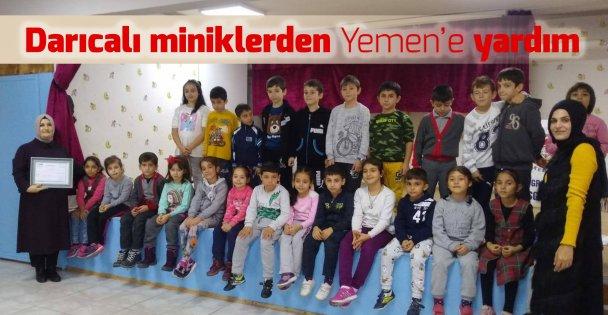 Öğretmenleri adına Yemen'e bağışta bulundular