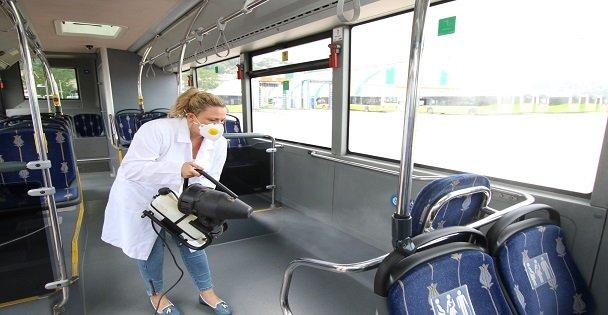 Otobüsler nano teknolojiyle temizleniyor