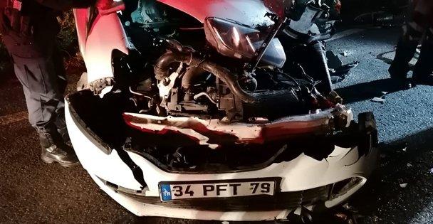 Otomobil Sürücüsü Hastaneye Kaladırıldı
