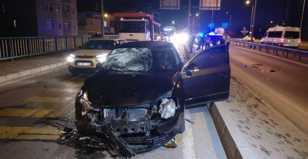Otomobilin Çarptığı Motosikletin Sürücüsü Ağır Yaralandı