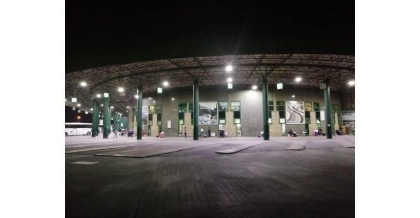 Şehirlerarası Otobüs Terminali'ne  tasarruflu aydınlatma