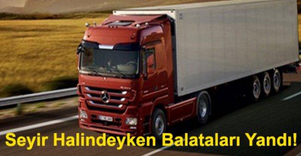 Seyir Halindeyken Balataları Yandı!