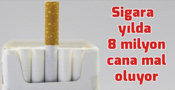 Sigara yılda 8 milyon cana mal oluyor