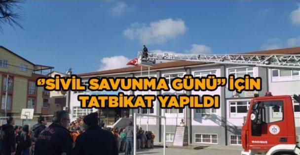 'Sivil Savunma Günü'  tatbikatı yapıldı '