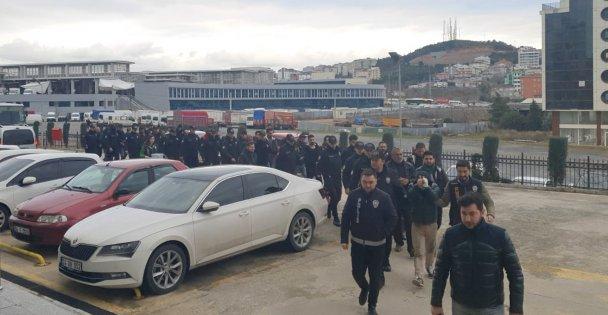 Suç örgütü operasyonunda 24 kişi yakalandı