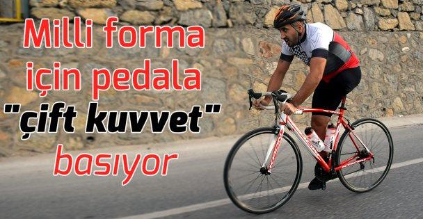 Tek bacaklı bisikletçi, milli forma için pedala 'çift kuvvet' basıyor