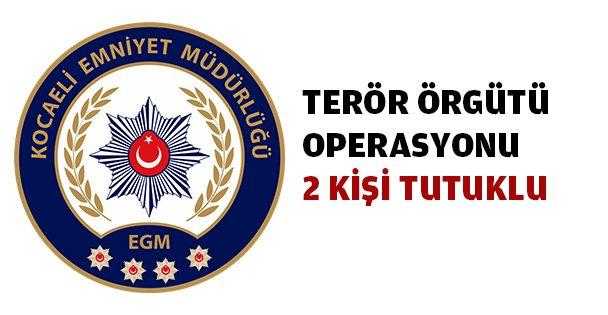 Terör örgütü operasyonunda 2 tutuklu