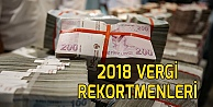2018 vergi rekortmenleri belli oldu