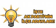 AK Partinin ilçe adayları!