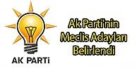 Ak Parti'nin Meclis Adayları Belirlendi