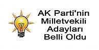 AK Partinin Milletvekili Adayları Belli Oldu