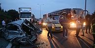 Anadolu otoyolunda zincirleme kaza: 1 ölü, 2 yaralı