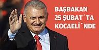 Başbakan 25 Şubatta Kocaelinde