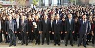 Başkan Büyükgöz ve Kaymakam Güler FSM Lisesinde bayrak törenine katıldı