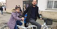 Bisiklete binme hayalleri gerçek oldu