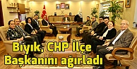 Bıyık, CHP İlçe Başkanını ağırladı