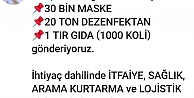 Büyükşehirden İzmir deprem bölgesine yardım