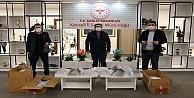 Büyükşehirin ürettiği maskeler kamu kurumlarına dağıtıldı