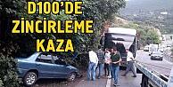 D100de zincirleme trafik kazası: 6 yaralı