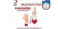 """Darıcada Trabzonlulardan Kan Dostum"""" Kampanyası"""
