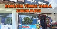 Darıcada Türkçe tabela zorunluluğu
