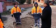 Darıcada yol bakım ekipleri çalışıyor