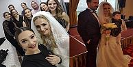Dilek ve Ömerin düğününe konuk yağdı