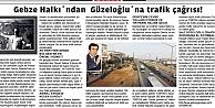 Gebze Halkı'ndan  Güzeloğlu'na trafik çağrısı!