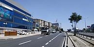 Gebze İstanbul Caddesinde yol çizgileri çizildi