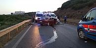 Gebzede iki otomobil çarpıştı: 6 yaralı