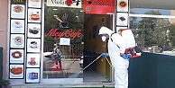 Gebzede kafe ve lokantalar dezenfekte edildi