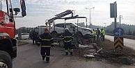 Gebzede kamyon ile otomobil çarpıştı: 2 yaralı