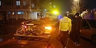 Gebze#39;de kamyonetle çarpışan motosiklet sürücüsü yaralandı