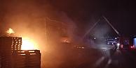 Gebzede palet fabrikasında yangın