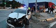 Gebzede tır ile çarpışan sürücü yaralandı