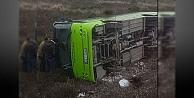 Halk otobüsü şarampole yuvarlandı