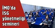 İMOda İSG yönetmeliği semineri