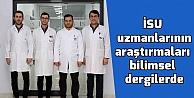 İSU uzmanlarının araştırmaları bilimsel dergilerde