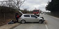İzmitte trafik kazası: 1 yaralı