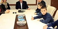 """Karaosmanoğlu, Recep, Tayyip, Erdoğanı ağırladı"""""""