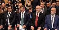 Kılıçdaroğlu, Karamollaoğlu ve Davutoğlu ASİAD toplantısında buluştu