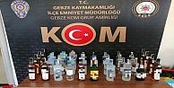Kocaelide 190 şişe sahte içki ele geçirildi
