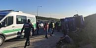 Kocaelide devrilen tırın şoförü öldü