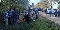 Kocaelide devrilen traktörün sürücüsü yaralandı
