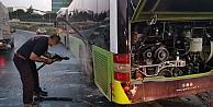 Kocaelide halk otobüsünde yangın