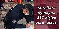 Kocaelide Kovid-19 tedbirlerine uymayan 537 kişiye para cezası verildi